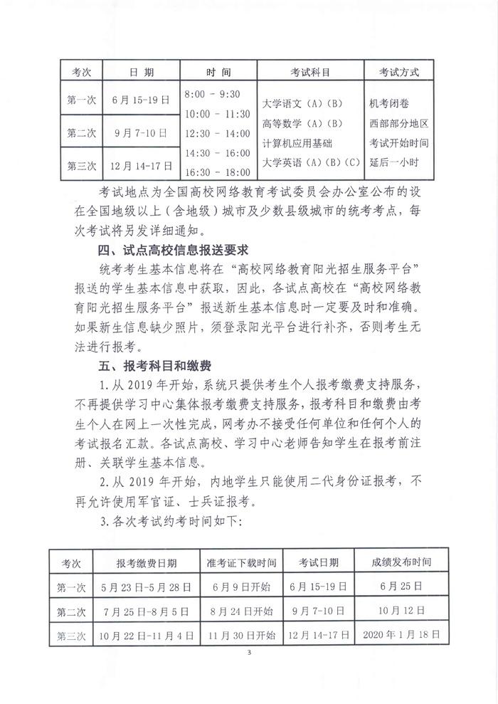 20190513-关于转发《试点高校网络教育部分公共基础课全国统一考试2019年考试工作计划》的通知(教职成司函〔2019〕54号)_3.jpg